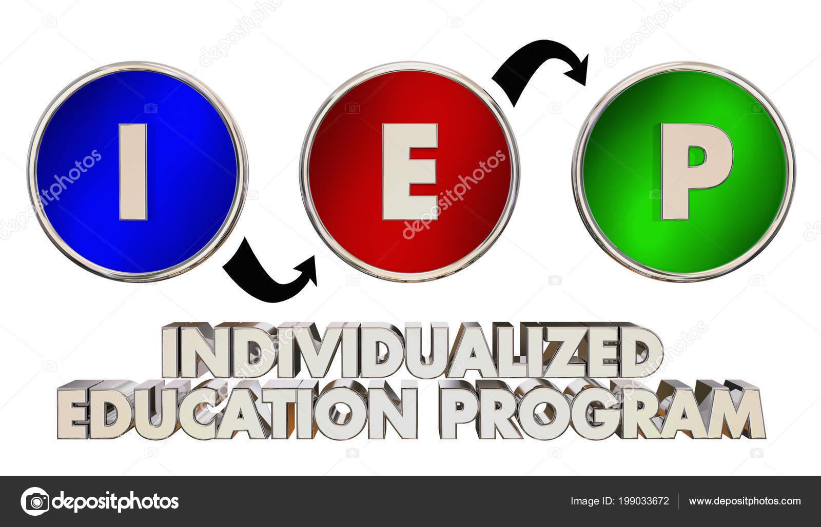 Iep Individualizado Educación Programa Enseñanza Palabras ...