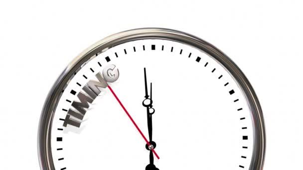 f56510881a4 Cronometrando Tudo Velocidade Relógio Ponto — Vídeo de Stock ...