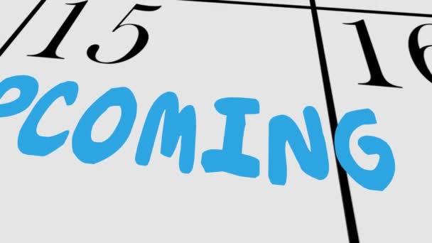 Coming Soon Calendario.Proxima Venida Escuchar Pronto Proxima Fecha Dia Del Calendario