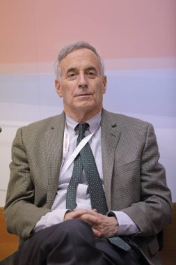 MOSCOW, RUSSIA - JAN 12, 2017: Laurence Jacob Kotlikoff is an American academic and politician, who is a William Warren Fairfield Professor at Boston University at the Gaidar Forum 2017