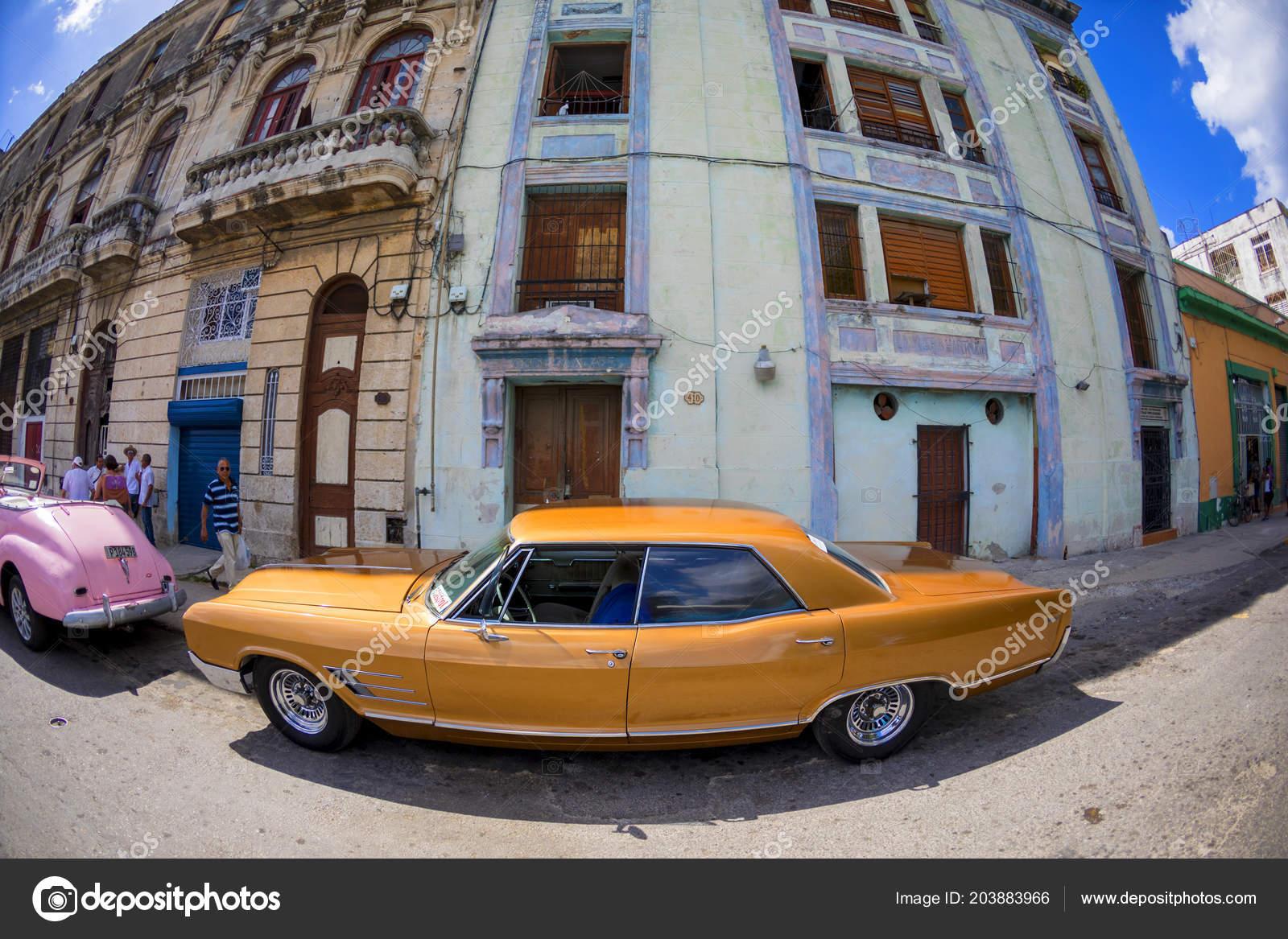 Havana Cuba 2018 Vintage Classic American Cars Restored Condition