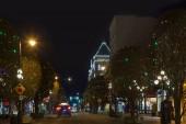 Victoria Canada prosince 2 2017: Město zdobené na Vánoce