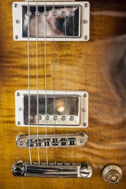 Electric guitar close up