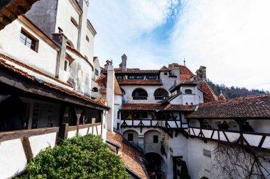 Bran Transylvania.Exterior of the medieval castle of earl Vlad Dracula in Bran. Dracula's castle, Brasov, Transylvania. Most visited travel landmark.