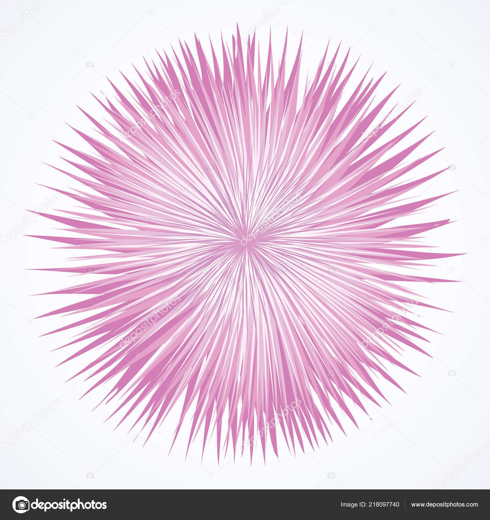 Künstlerische Hell Violett Widerhaken Kreis Mittelpunkt Zeichnen