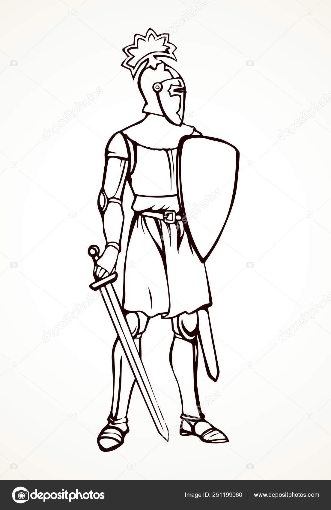 Knight  Vector drawing — Stock Vector © Marinka #251199060