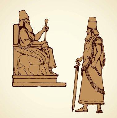 Golden Idol of Nebuchadnezzar. Vector drawing