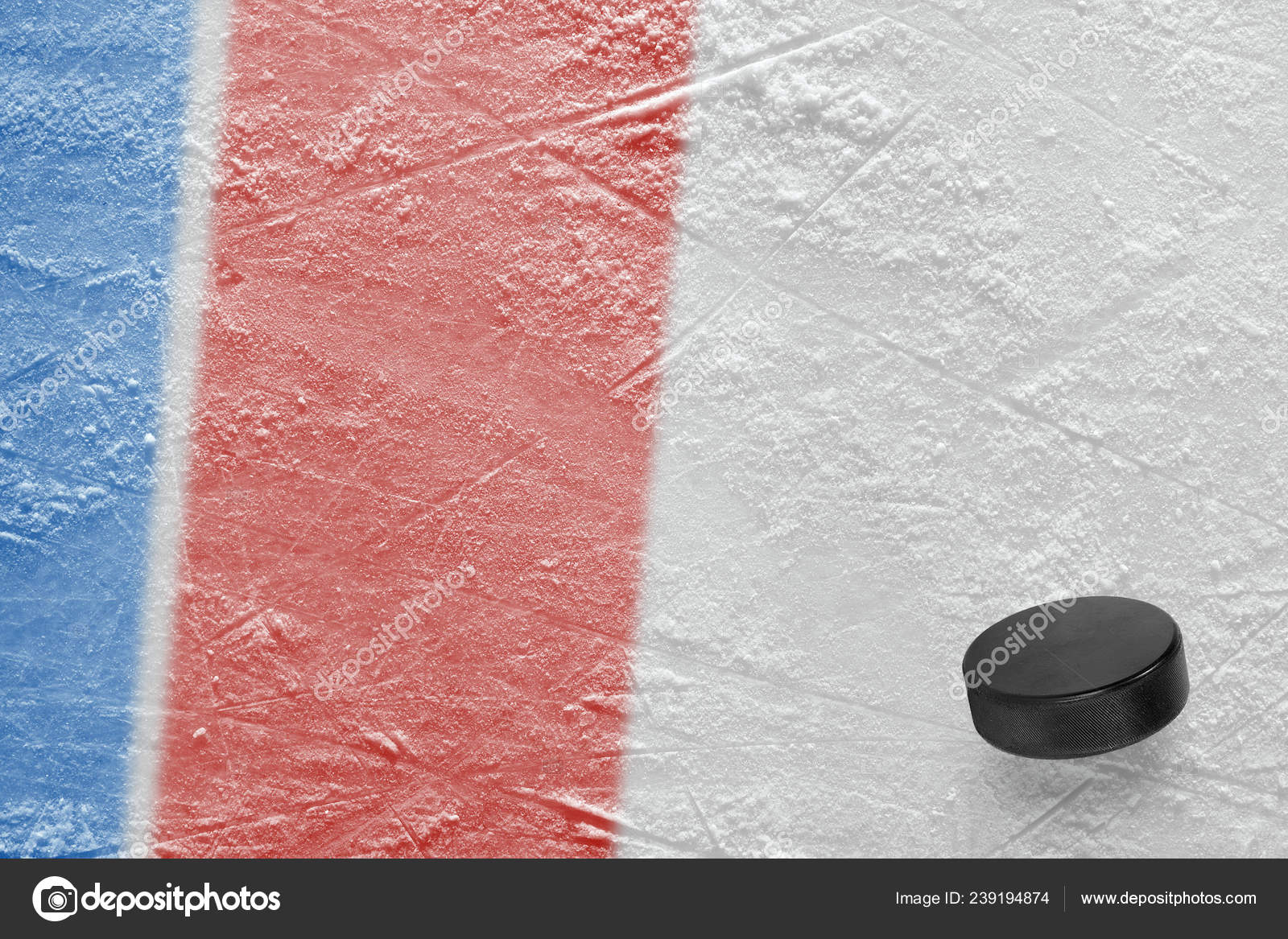 Puck Arena Del Hockey Sobre Hielo Concepto Hockey Wallpaper