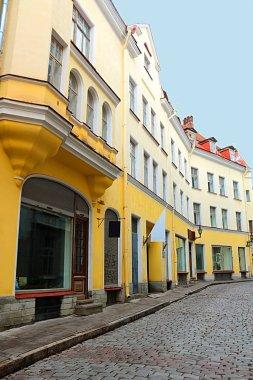 View of buildings on Hobusepea street in Tallinn, Estonia