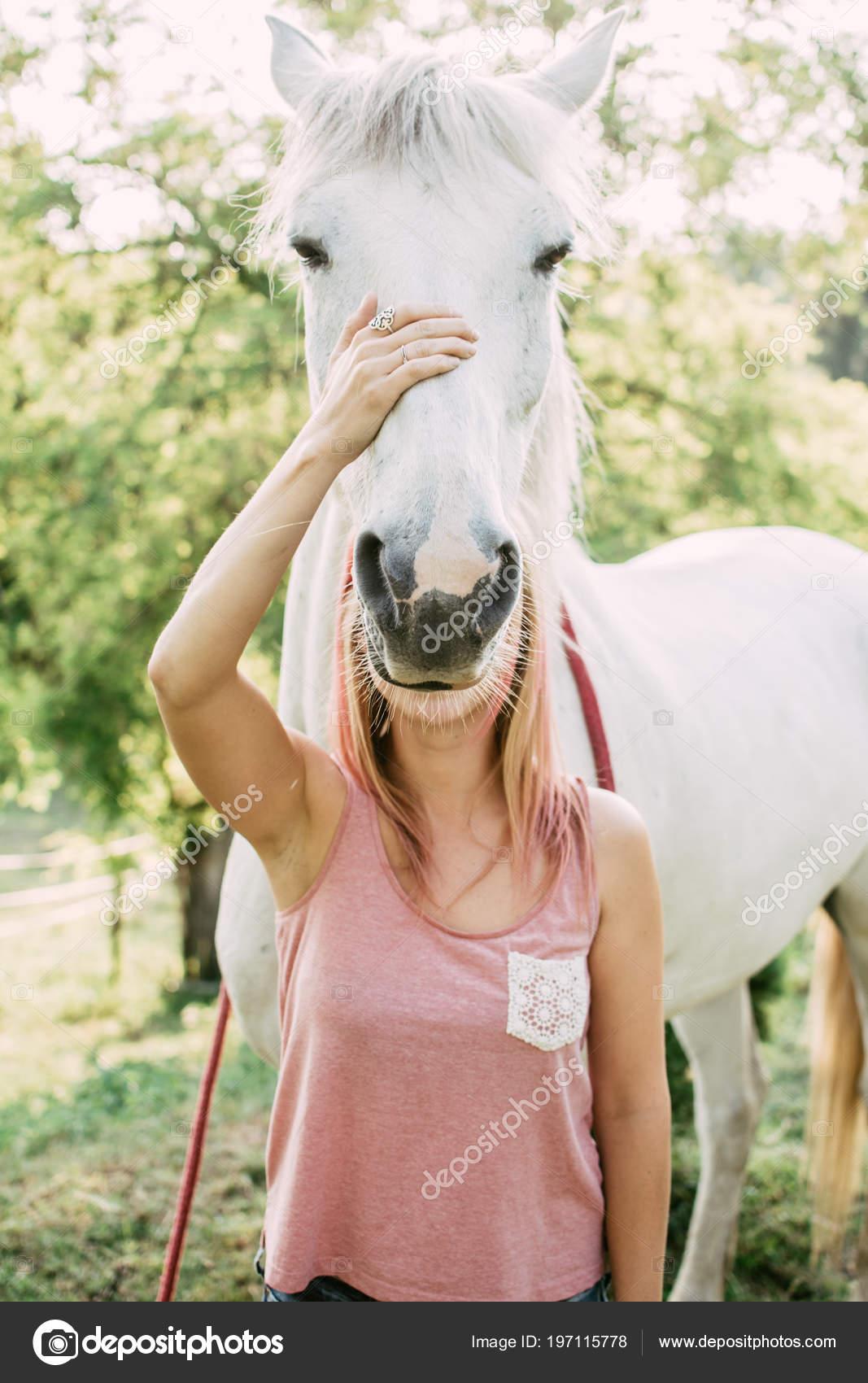 Face Head Change Horse Funny Horse Image Stock Photo C Loriklaszlo 197115778