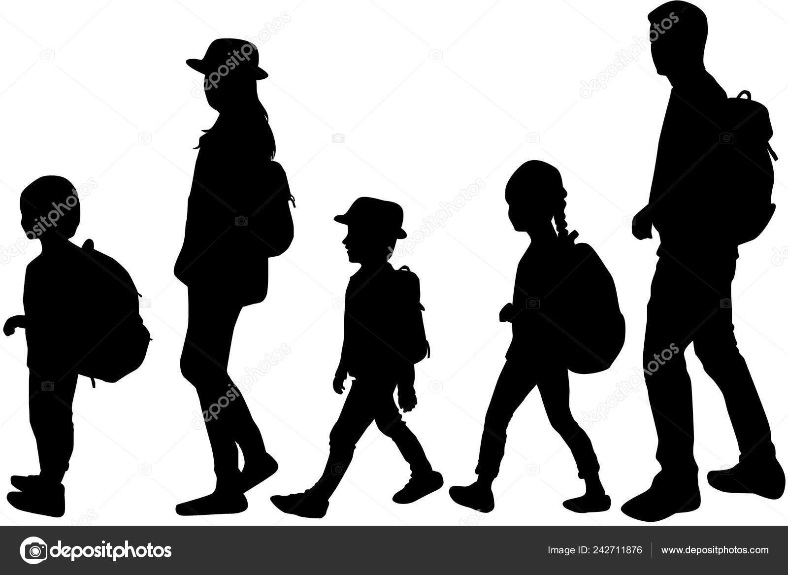 silhouette family walk vector work stock vector c pablonis 242711876 silhouette family walk vector work stock vector c pablonis 242711876