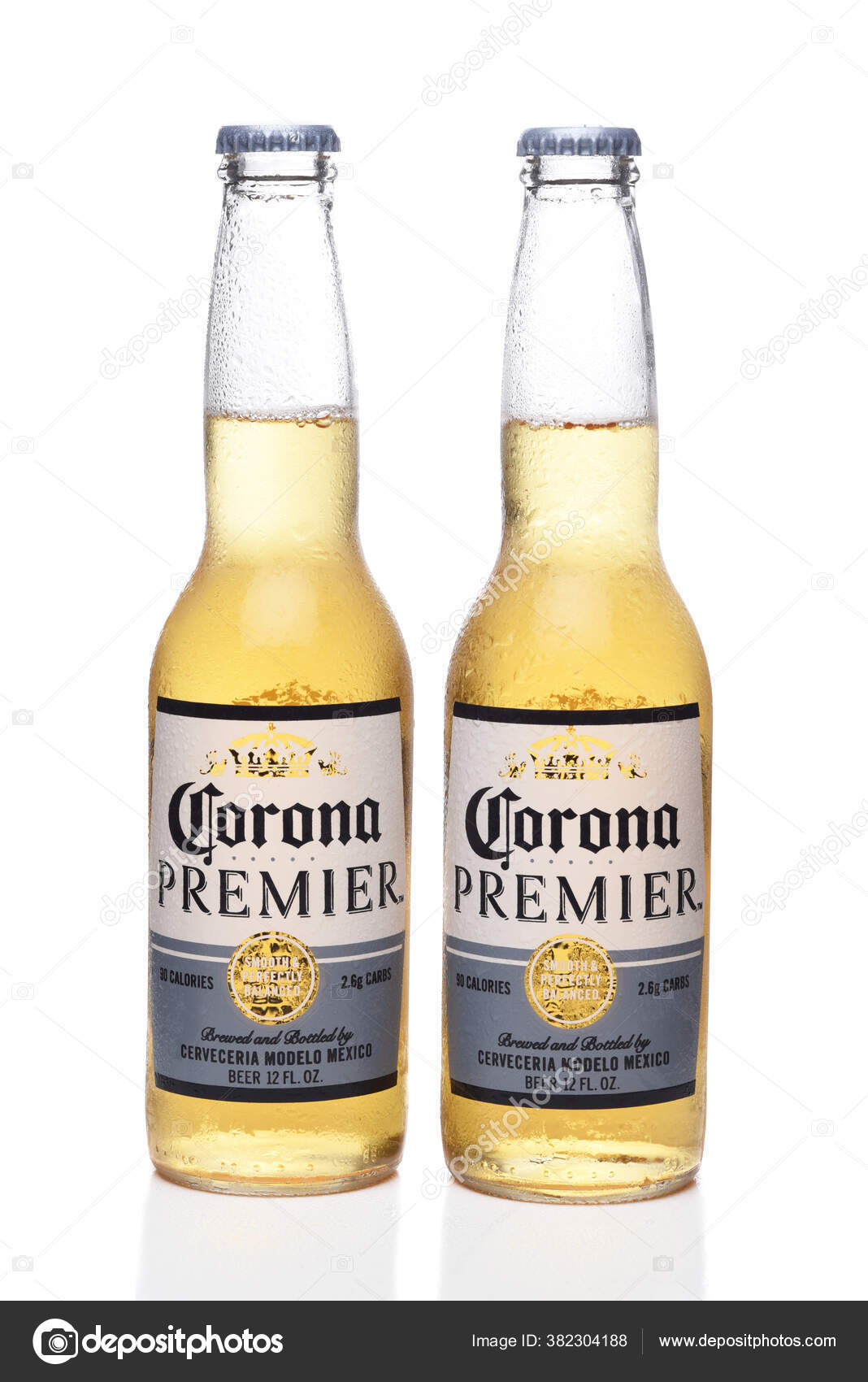 Irvine California June 2020 Two Cold Bottles Corona Premier Beer Stock Editorial Photo C Scukrov 382304188