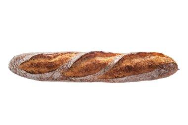 Baguette. Freshly backed bread isolated on white background. stock vector