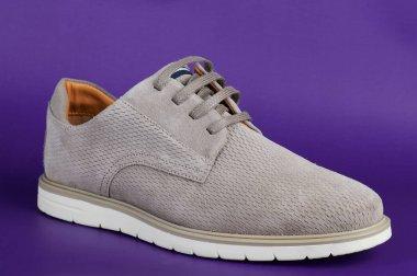 One gray casual men shoe