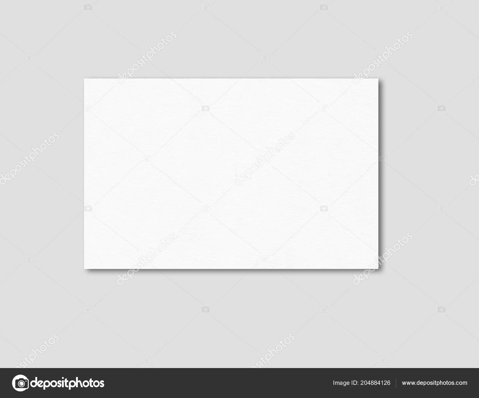 Leere Visitenkarte Mockup Vorlage Isoliert Auf Grau