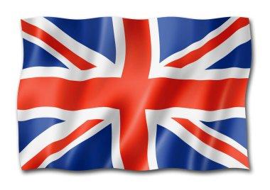 United Kingdom, UK flag, three dimensional render, isolated on white