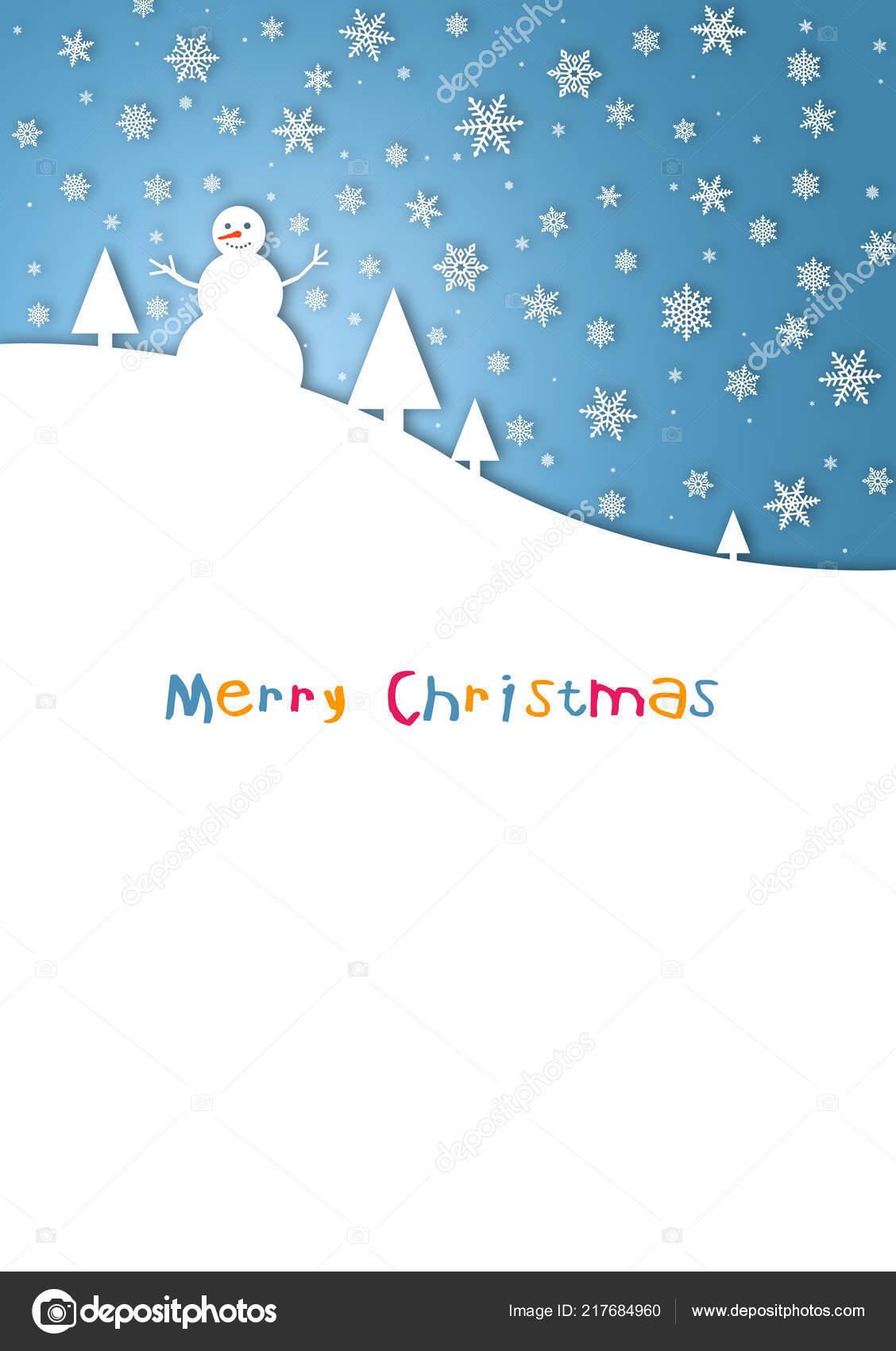 aff158b76e5bd Feliz Navidad Tarjeta Niño Con Muñeco Nieve Colores — Foto de stock ...