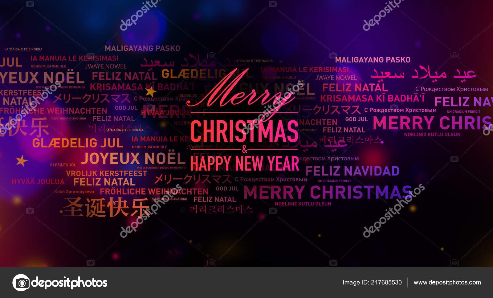 Abstrakte Frohe Weihnachten Und Neujahr Karte Aus Der Ganzen Welt ...