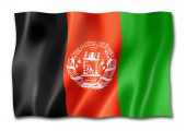 Afghanistan flag, three dimensional render, isolated on white