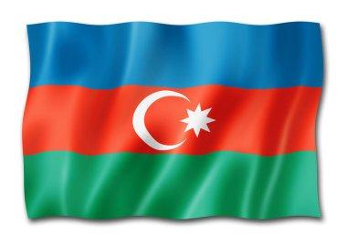 Azerbaijan flag, three dimensional render, isolated on white