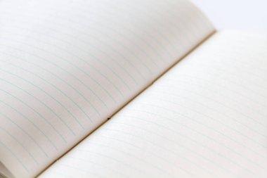 Open blank notebook mockup closeup view stock vector