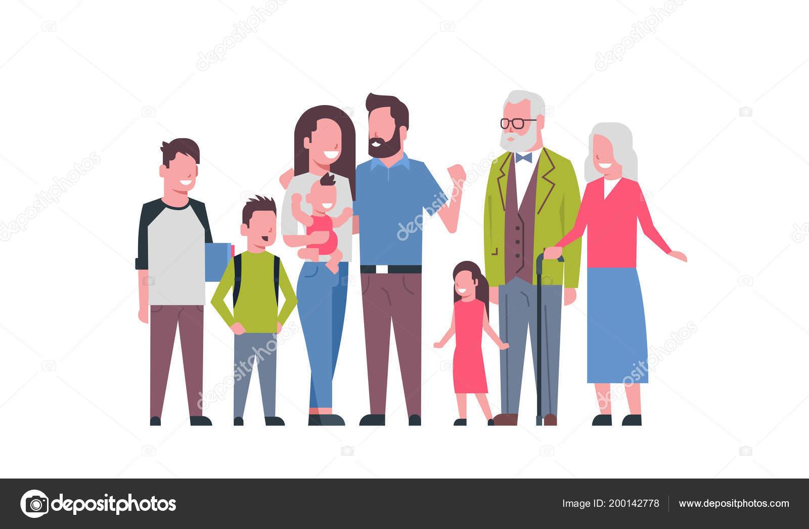 Grandparents parents children grandchildren, multi