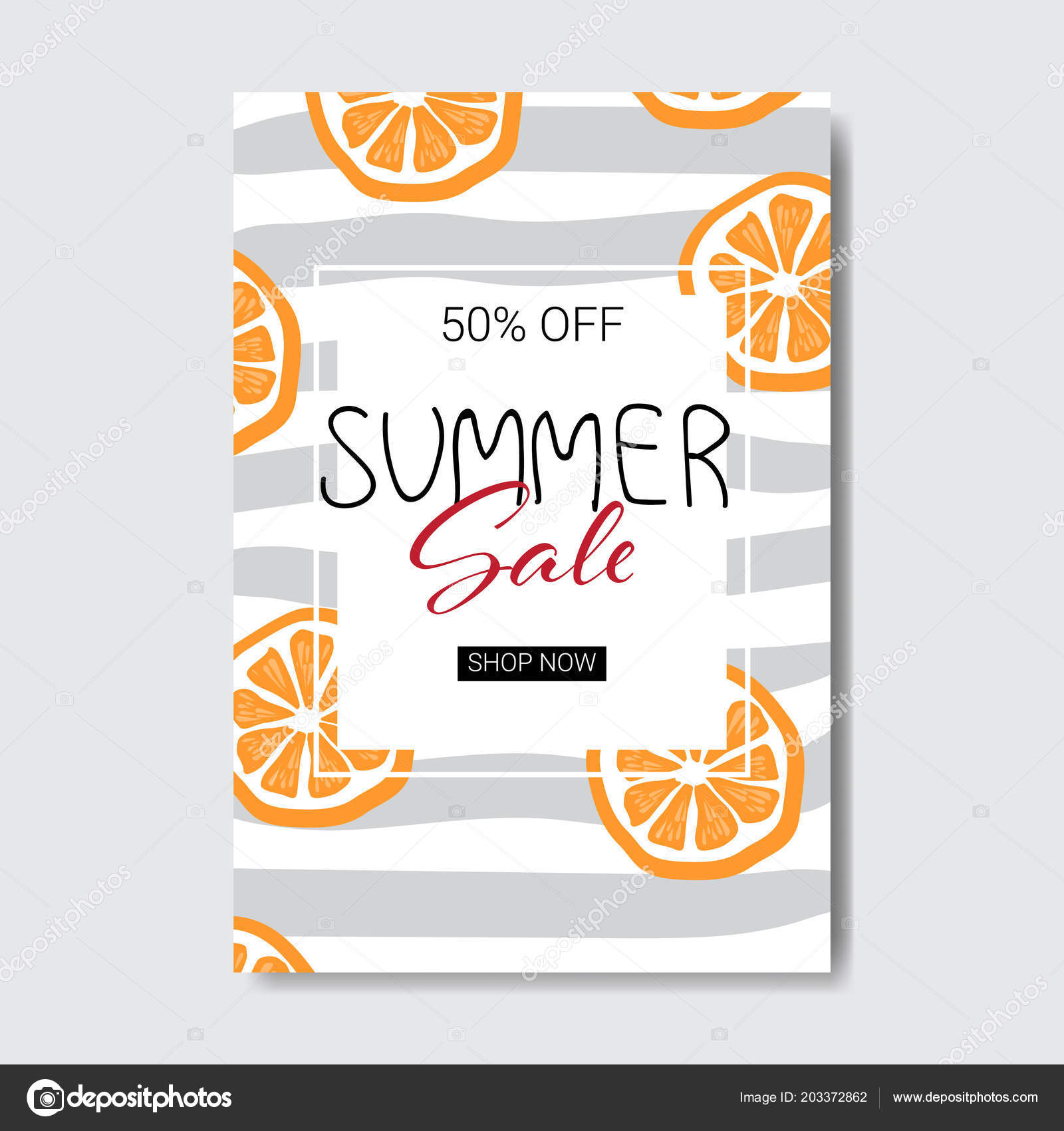 summer sale orange lettering badge design label season shopping for