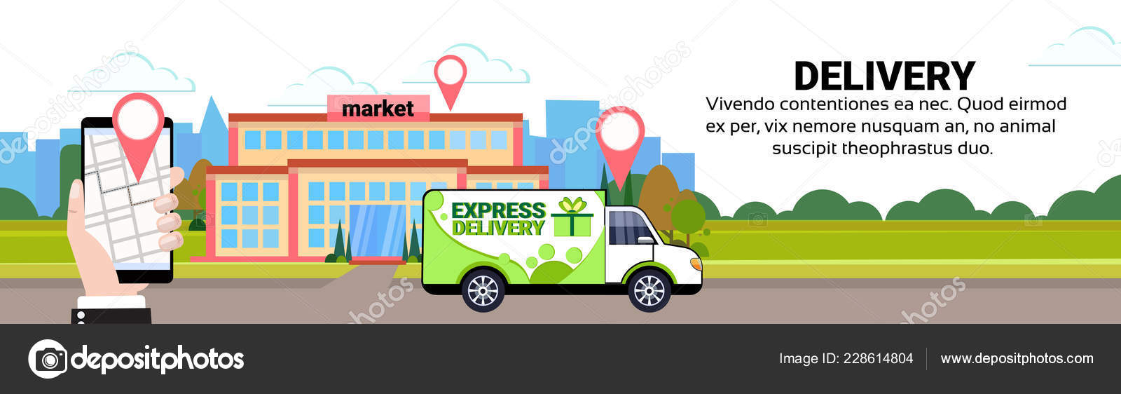 Mobile app cargo minivan delivery transport geo tag