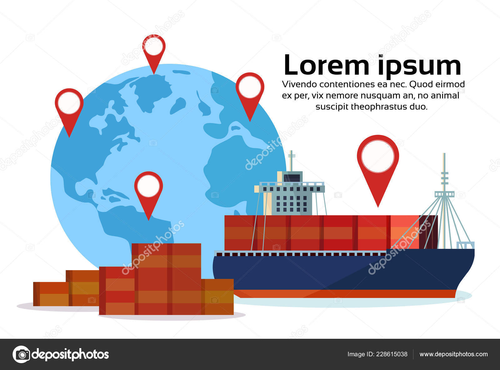 geo térkép Ipari tengeri szállítási hajó cargo logisztikai konténer világ