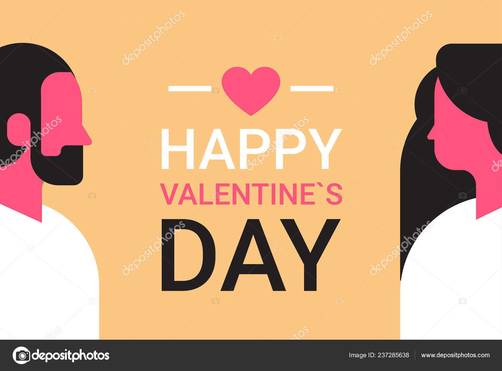 African american couple looking each other happy valentines day holiday  concept man woman in love male female portrait head profile avatar  horizontal ...