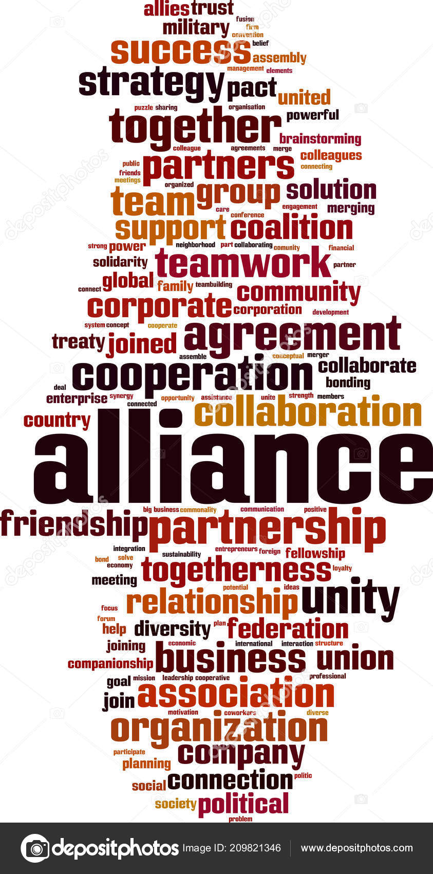 Alliance Word Cloud Concept Vector Illustration — Stock