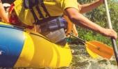 Fotografie Rafting team , summer extreme water sport