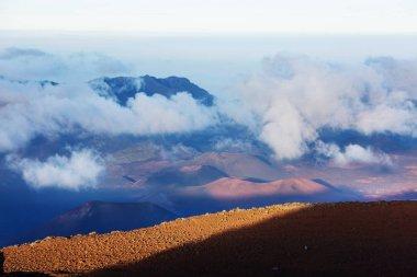 Beautiful sunrise scene  on  Haleakala volcano, Maui island, Hawaii