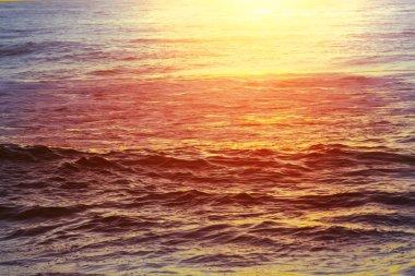 Sea sunset beautiful nature landscape