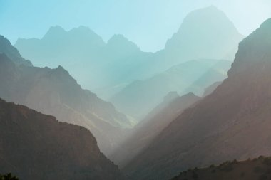 Beautiful landscape of Fann Mountains, Tajikistan