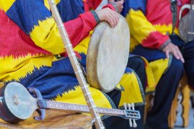Folk Uzbek percussion musical instrument Doyra