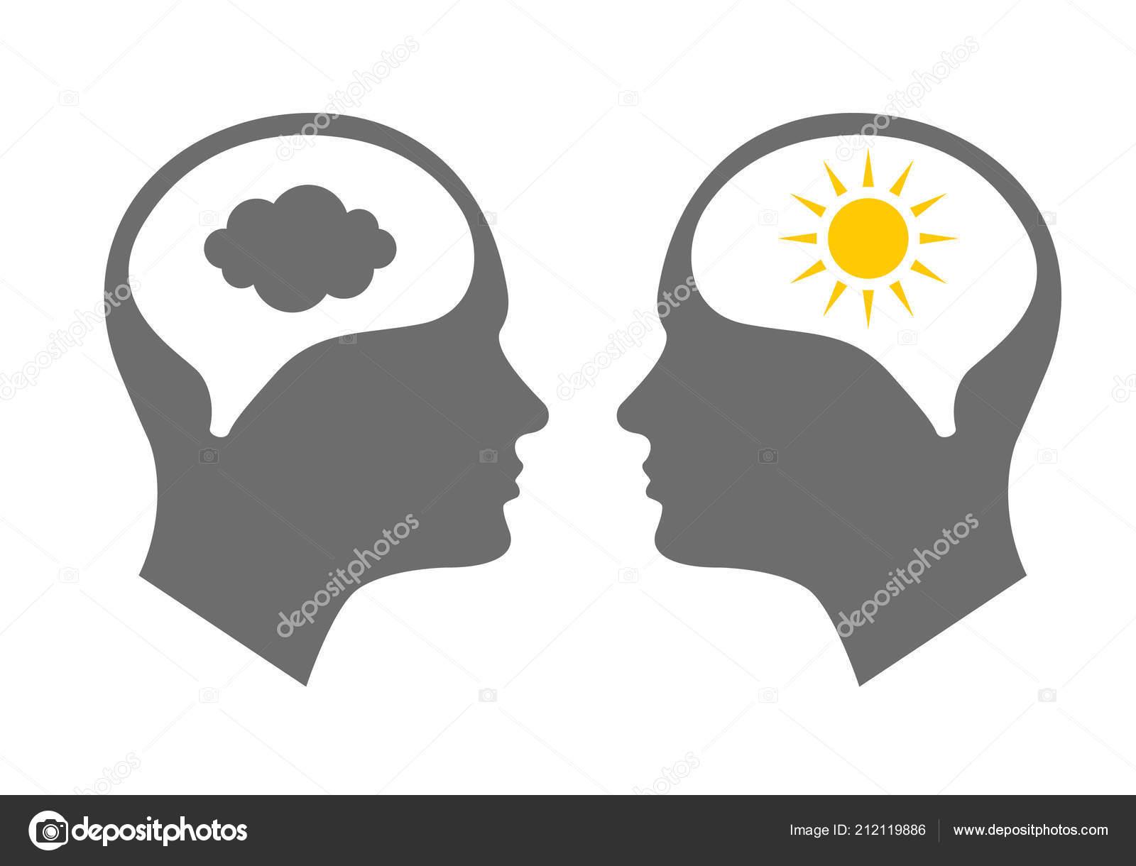 Head Icon For Bipolar Disorder Stock Vector Nataly Nete 212119886