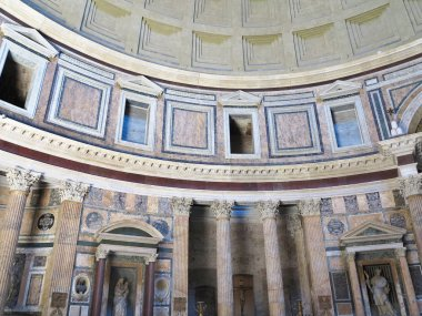 19.06.2017, Rome, Italy: Interior and dome of the Pantheon temple of all pagan gods in Rome, Italy.