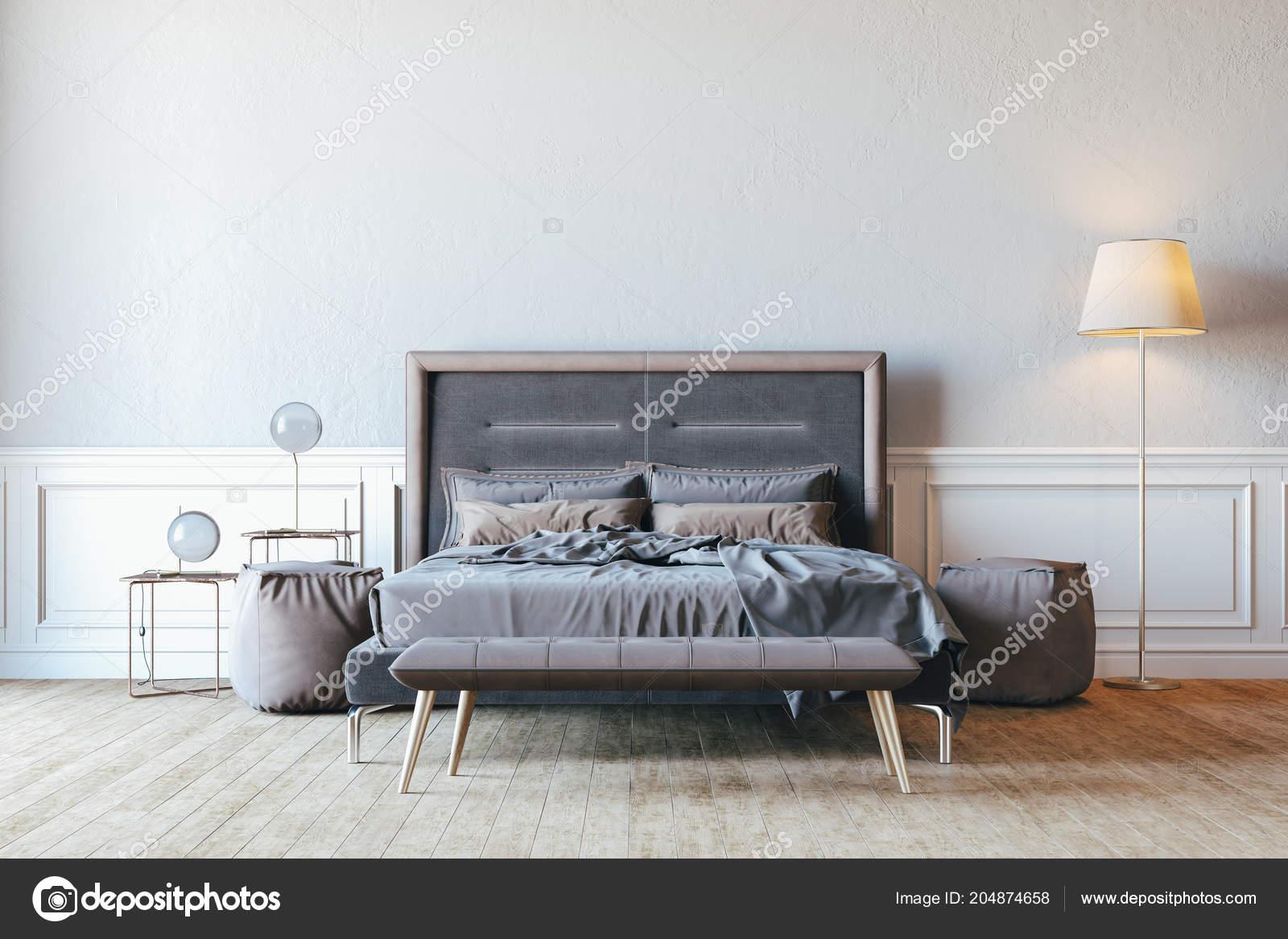Render Schöne Schlafzimmer Innere Einrichtung — Stockfoto ...