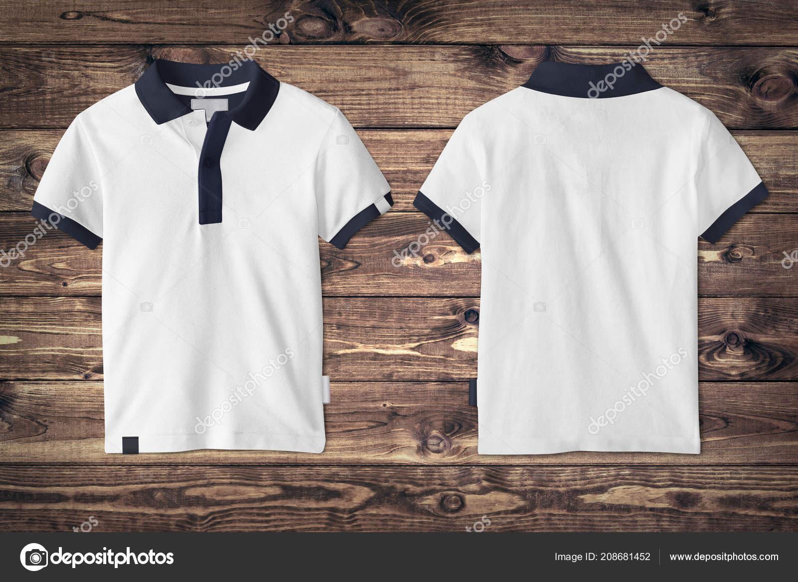 b778b6107d Polo Póló Makett Fából Készült Háttér — Stock Fotó © digitalgenetics ...