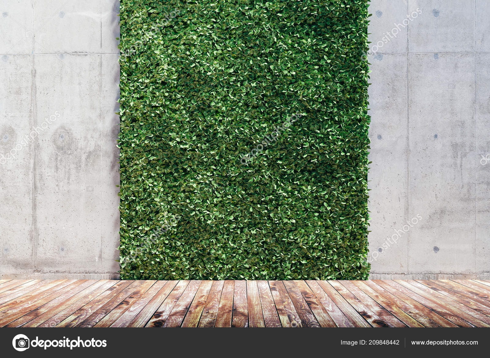 Rendering verde fresco giardino verticale muro cemento for Rendering giardino