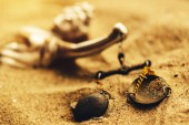 -Szobor lady igazságügyi skála eltemetett a homok, a megoldatlan hideg esetben bűncselekmény fogalma
