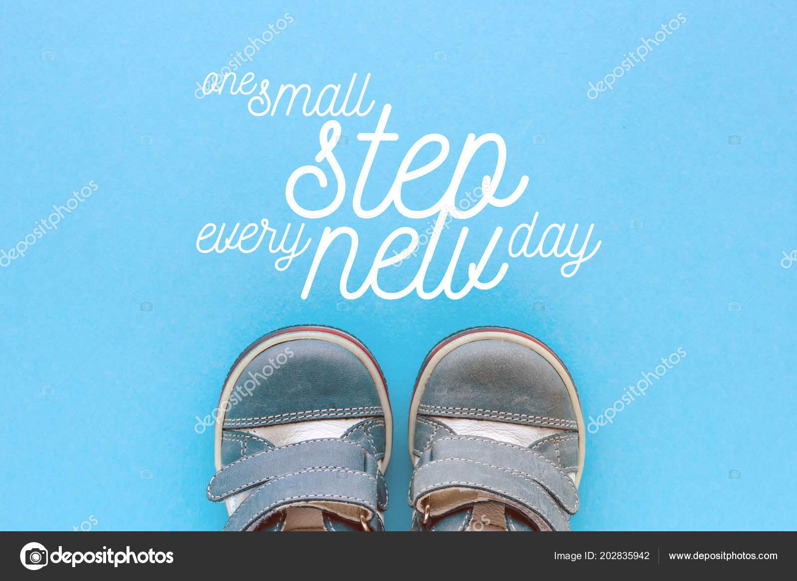 Pequeno Passo Cada Mensagem Motivacional Novo Dia Imagem