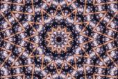 Abstraktní kaleidoskop vzorkem na pozadí, barevné reflexní zrcadlení pozadí jako prvek grafického designu