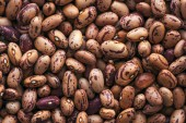 Pinto bean from above, top view of healthy legume beans as background or texture