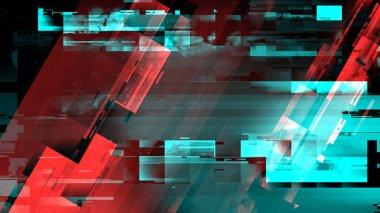 Technology error digital glitch abstract background, illustration