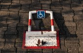 Behindertenparkplatzschützer hautnah