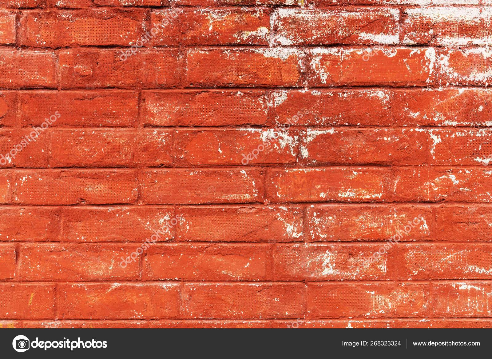 Mur En Brique Rouge texture rayée de mur de brique rouge — photographie