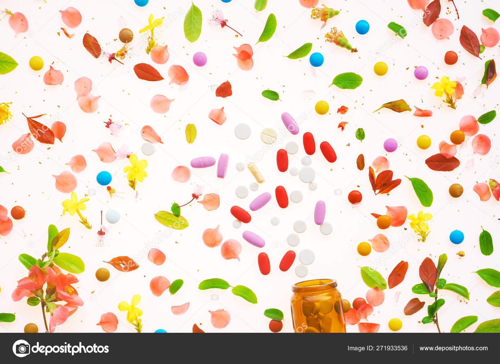 Recreational drugs conceptual flat lay top view — Stock