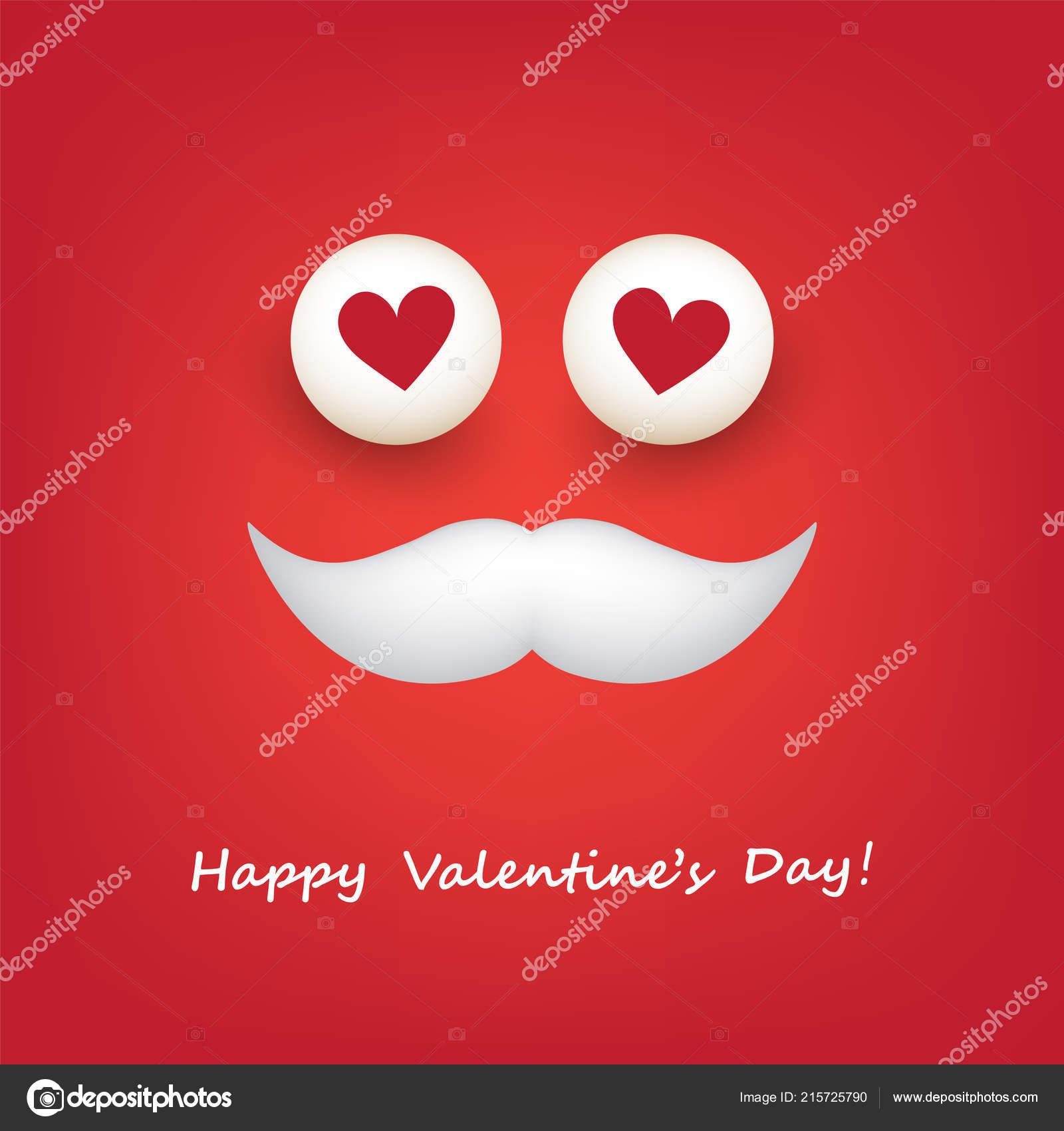 Karte Zum Valentinstag Emoji Mit Herzformigen Augen Und